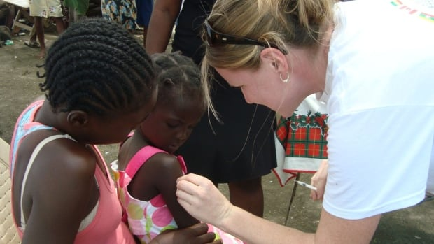 Dr. Brianna Wilson at work. The Hamilton doctor is set to travel to Tacloban, one of the most devastated cities in the Philippines, to deliver medical help to people affected by Typhoon Haiyan.