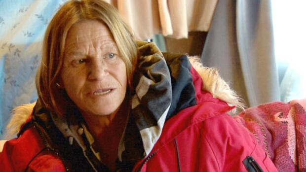 Debby Foster says it has been challenging living in a trailer in the winter in her backyard.