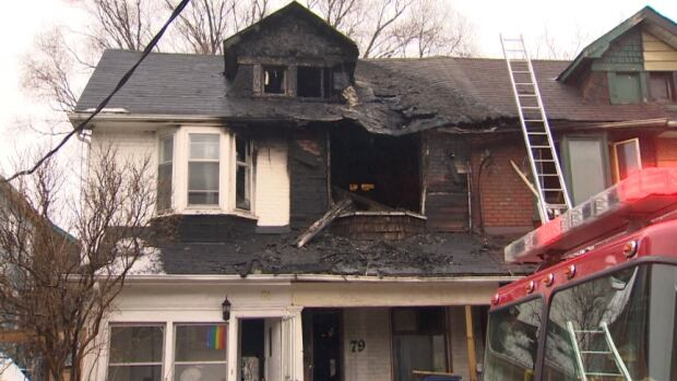 The blaze on Laing Street did extensive damage to three units, say officials. Most residents made it out themselves and were treated on the scene for minor injuries.