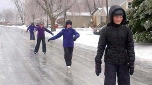 Frozen streets of Kingston