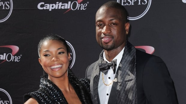 Actress Gabrielle Union, left, and Miami Heat's Dwyane Wade got engaged on Saturday.