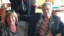 Shelagh Rogers and Thomas King