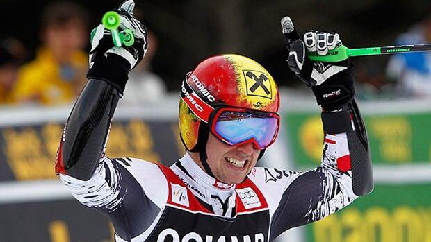 Marcel Hirscher of Austria wins the men's giant slalom World Cup in Alta Bada, Italy., on Dec. 22, 2012