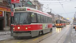 Toronto streetcars ice