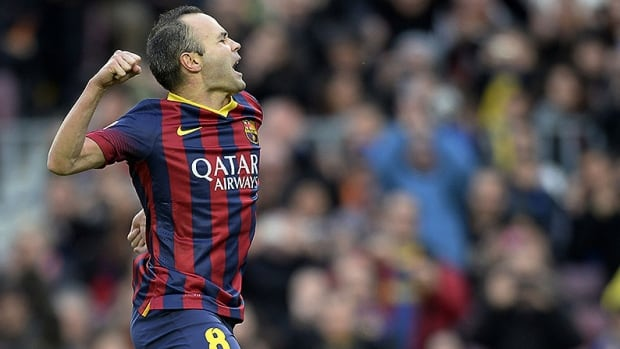 Barcelona FC midfielder Andres Iniesta joined the team's football academy at the age of 12 and debuted with the first team in 2002.