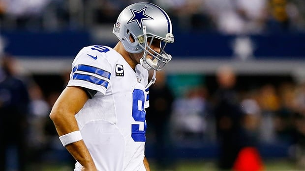 Quarterback Tony Romo injured his back in Sunday's 24-23 win over Washington.