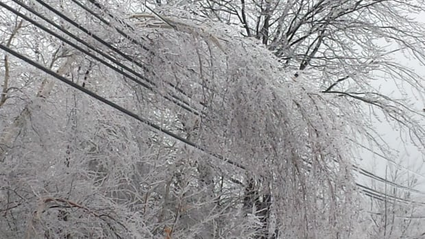 Freezing rain led to power lines and those of other utilities being taken down in an earlier ice storm.