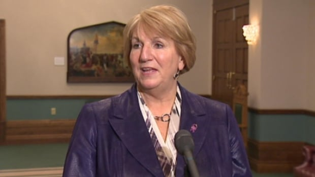 Newfoundland and Labrador Premier Kathy Dunderdale, seen here on Dec. 4, says the province has one of the most open government's in the country.