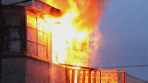 Fire in Surrey apartment building