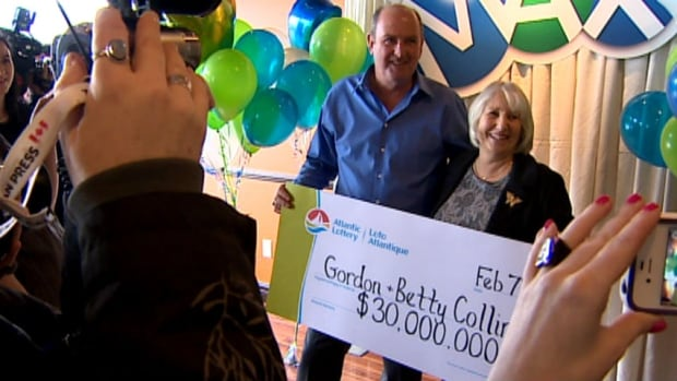 Gord and Betty Collins win the lottery
