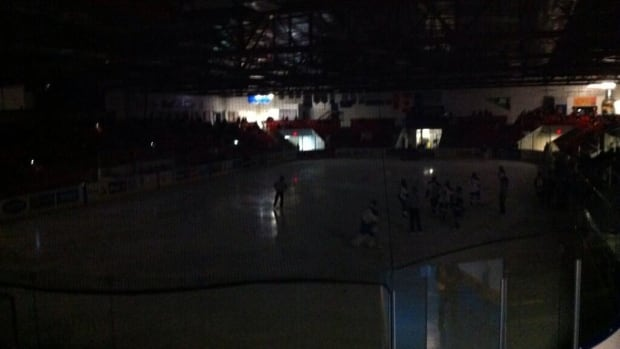 A power outage on Friday night forced organizers of the Mac's AAA Midget World Invitational Tournament to reschedule two games that were cut short.