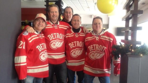 A group of friends, from California, New Jersey and Windsor got together for breakfast in downtown Windsor on Tuesday in advance of the NHL's Winter Classic.