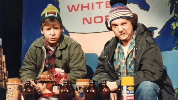 Channel Bob and Doug McKenzie (Rick Moranis and Dave Thomas) at a Manitoba Bison's hockey game this weekend. Plaid optional, tuques not.