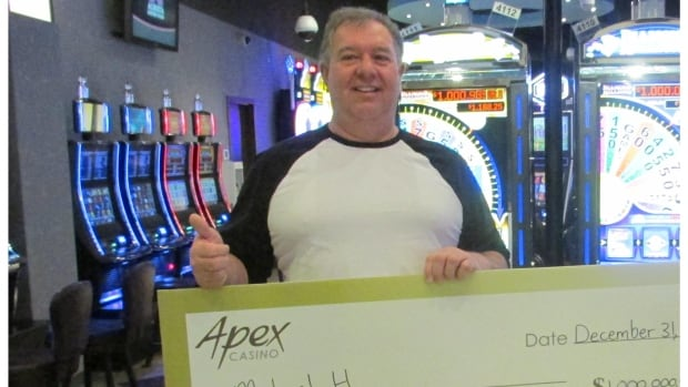 Michael Huppe won more than $1 million at the Apex Casino on Tuesday afternoon.