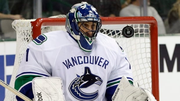 Vancouver Canucks goalie Roberto Luongo said he was injured by an Evander Kane shot during a game against the Winnipeg Jets on Dec. 22.