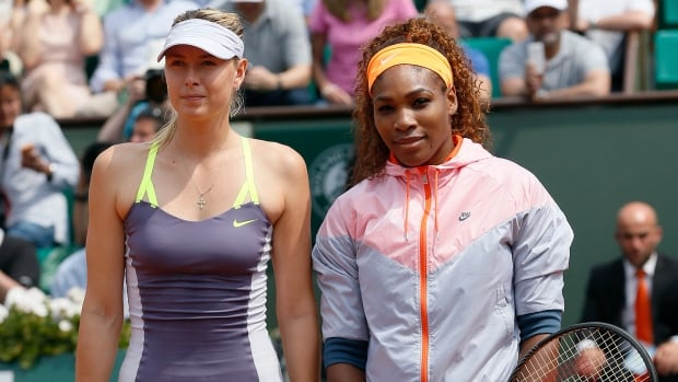 Serena Williams, right, has a 14-2 record and 13-match win streak against Maria Sharapova, left, beating the Russian most recently in last year's French Open final.
