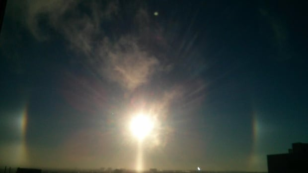 This photo of a sundog was taken by Tammy Bender from the top of the Rogers Building on Friday morning.