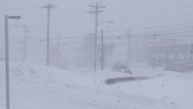Blowing snow was causing problems with visibility across P.E.I.