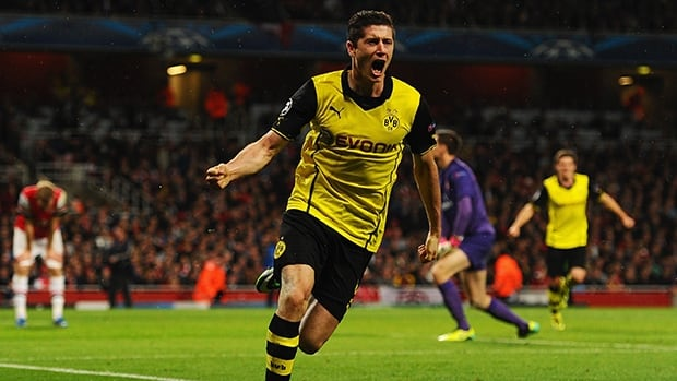 Robert Lewandowski has 65 goals in 115 Bundesliga games since joining Dortmund in 2010.