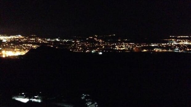 Scott Oldford took this photo of power outages from Signal Hill at about 4:30 a.m. on Jan. 6.