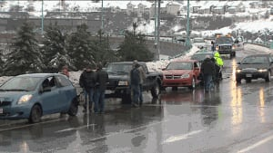 Icy conditions caused an eight-car pileup on the Saint John Harbour Bridge on Jan. 6, 2014