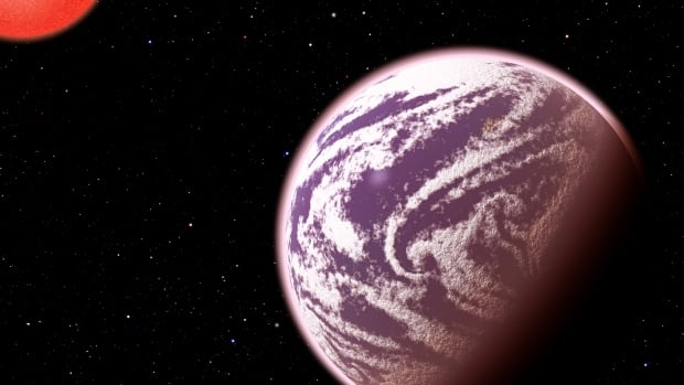 KOI-314c, shown in this artist's conception, is the lightest planet to have both its mass and physical size measured. Although the planet weighs the same as Earth, it is 60 per cent larger in diameter.