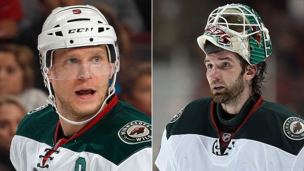 The Wild have lost forward Mikko Koivu, left, and goaltending Josh Harding, right, to injury. Koivu, who has 35 points in 44 games, has a broken foot and will be sidelined a month. Harding has missed two games with an unspecified illness.
