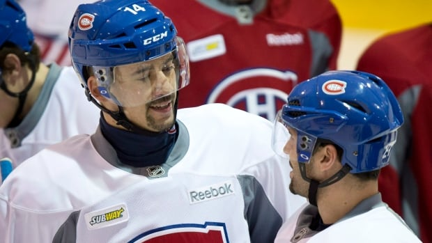 Montreal Canadiens Tomas Plekanec, left, was named to the Czech Olympic hockey team. He joins Jaromir Jagr, among others, on the team.