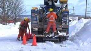 Newfoundland Power crew