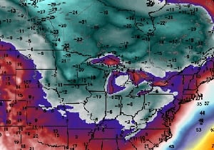 Cold air graphic