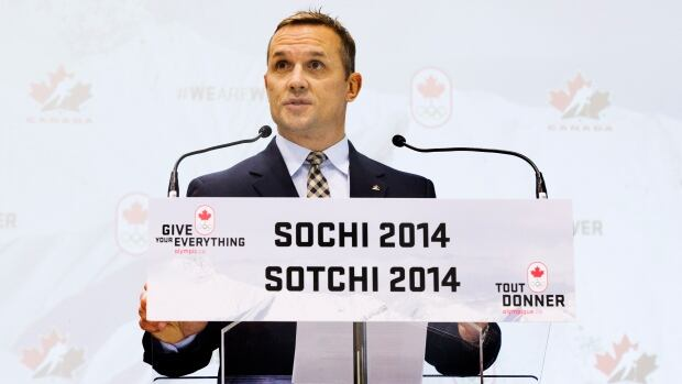 Team Canada Olympic hockey team Executive Director Steve Yzerman makes a roster announcement for Sochi 2014 in Toronto on Tuesday.