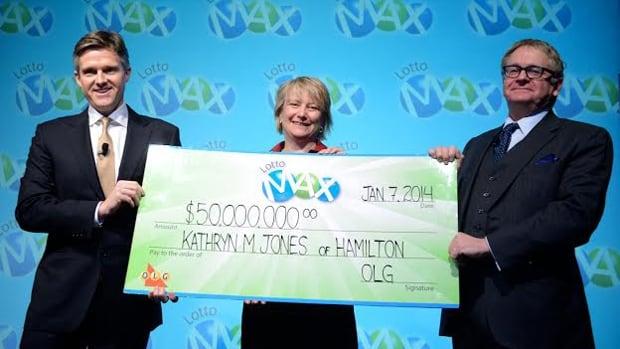 Kathryn Jones gets her cheque
