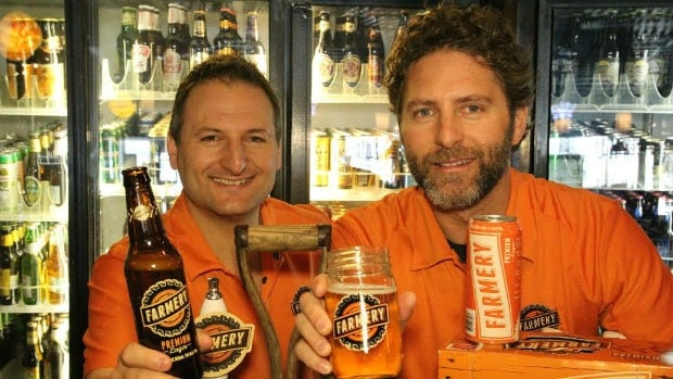 Brothers Chris and Lawrence Warwaruk launched Farmery, Canada's first estate brewery in 2012. The duo—who also own Luxalune restaurant in Winnipeg— grow hops and barley on their Neepawa-area farm for their Farmery Premium Lager.