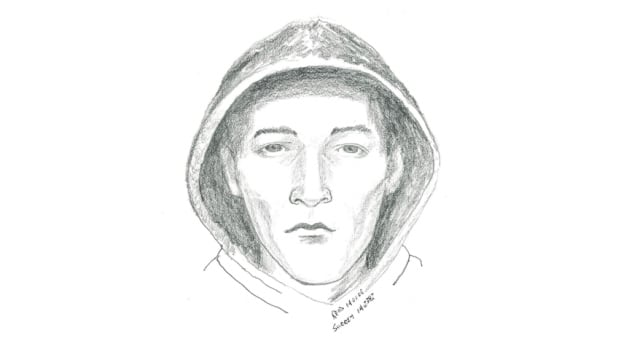 The suspect in a Surrey sex assault is described as pale with gaunt features and no facial hair.