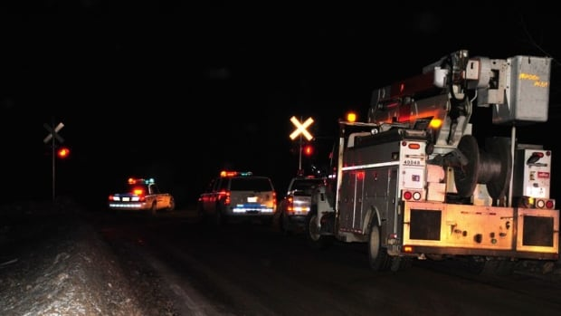 Emergency crews have blocked off roads leading to the scene of a train derailment in northwestern New Brunswick.