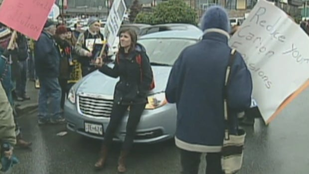 Mill Bay protest