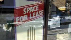 for lease sign, downtown sudbury