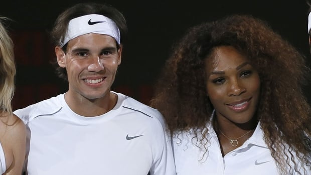 Spain's Rafael Nadal, left, and Serena Williams, right, have been ranked No. 1 on the men's and women's sides for the Australian Open, which begins Monday in Melbourne.