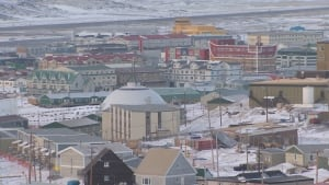 Blizzard damage in Iqaluit