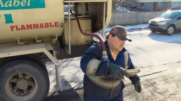 Mike Power is delivering 50 orders of home heating oil a day right now as demand has reached record levels.