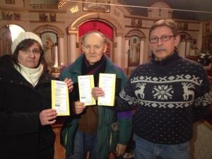 Ticketed church parishioners