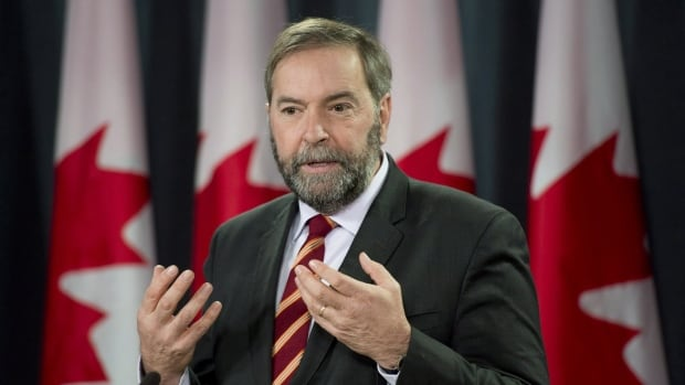 At a news conference today federal Opposition Leader Tom Mulcair suggested ways of improving rail safety following a recent spate of fiery train derailments.