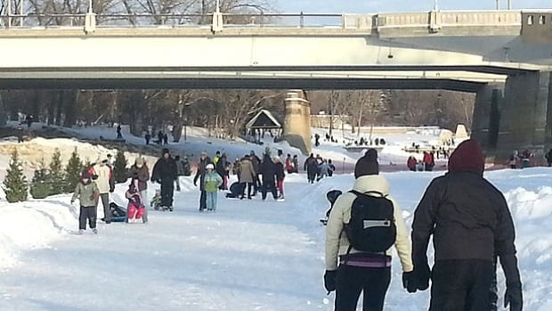 Winnipeg's river trail was often crowded during last winter.