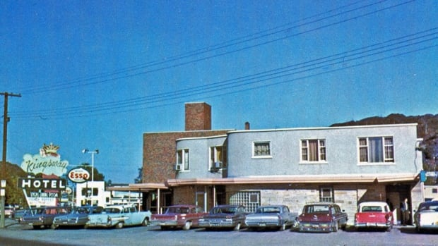 The Kingsway Hotel in 1961. The hotel, which has since been abandoned, is being demolished.