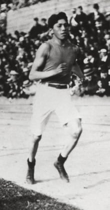the life and career of tom longboat as a marathon runner Tom longboat tom longboat:  in the 1907 world renowned boston marathon, tom stunned the world by setting a new course  longboat's racing career had a.