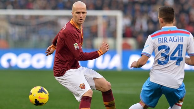 U.S. midfielder Michael Bradley, left, is said to be nearing a contract agreement with Toronto FC. He's in his second season with AS Roma after joining from Chievo Verona in 2012, but he has started just five of 19 league matches this season.