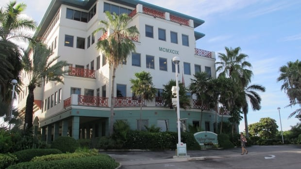 The Ugland House, the registered office for thousands of global companies, stands in George Town on Grand Cayman Island. Draft legislation proposed in Ottawa would try to track money sent to and from tax havens.