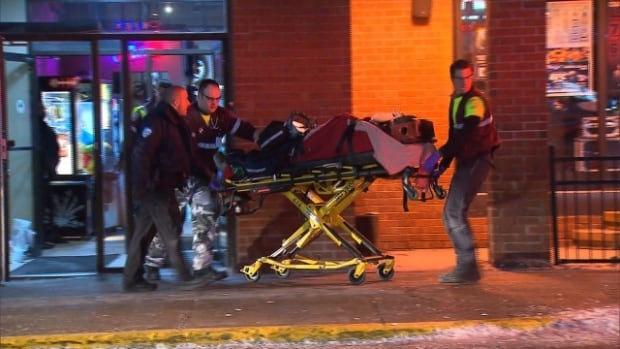 A man, 23, is taken to hospital after an early morning shooting at Le Skratch bar and pool hall in Pierrefonds on Montreal's West Island.