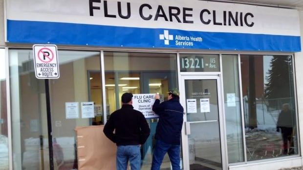 The Edmonton Flu Care Clinic opens its doors at noon Friday in an effort to relieve pressure on emergency departments at city and area hospitals.