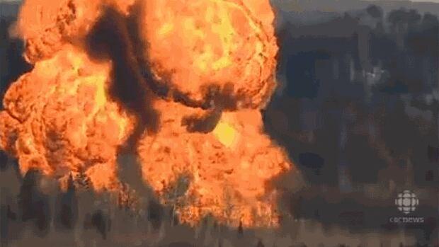 Huge fireball fills the sky